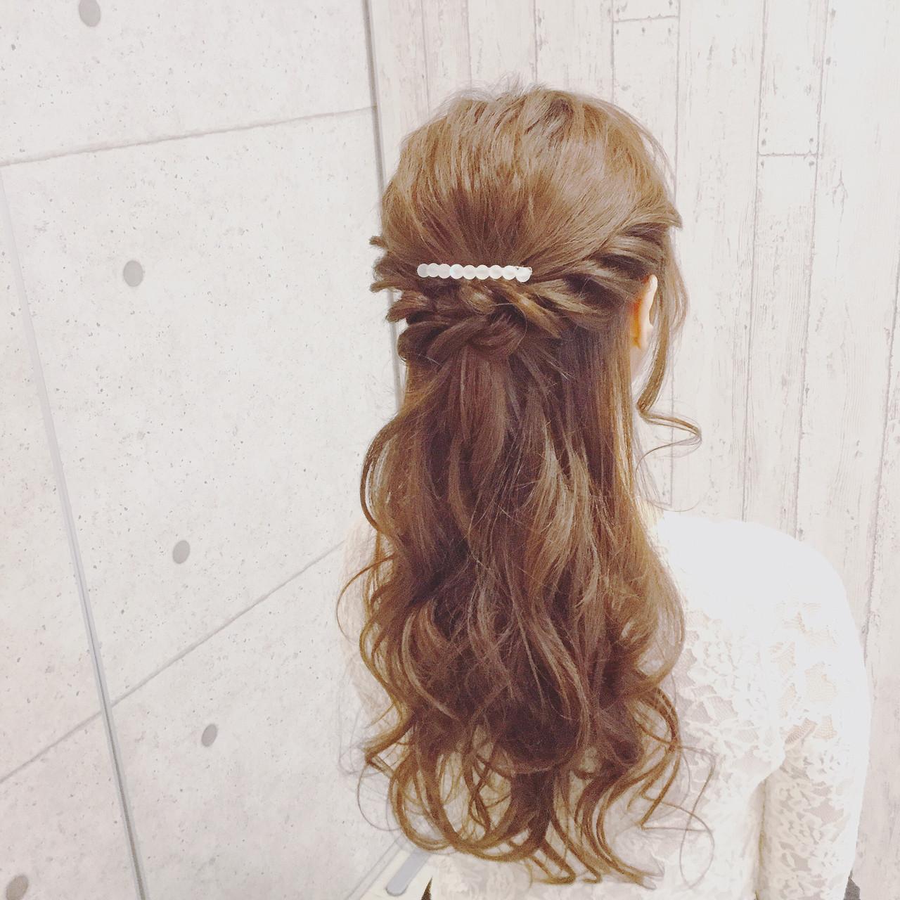 フェミニン全開のロングヘアのロープ編みアレンジ 髙橋 舞 | GLAMOROUS (グラマラス)