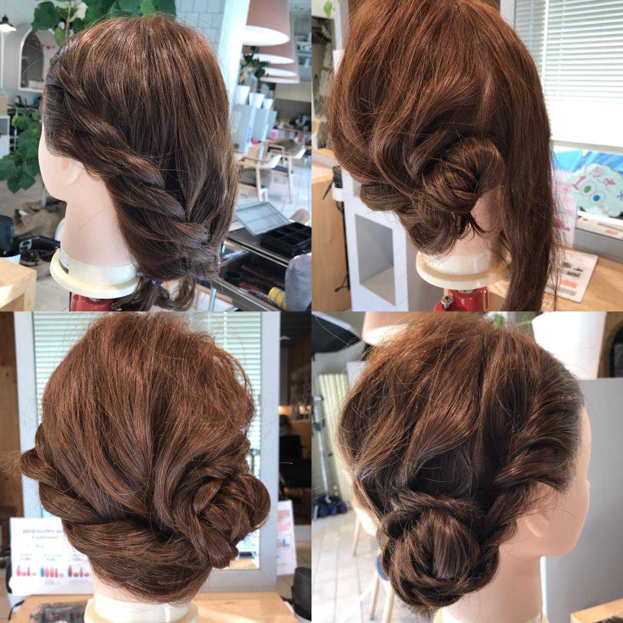 パーティにおすすめロングヘアのロープ編みアレンジ YASU | hair salon M.plus ヨツバコ店 (ヘアーサロン エムプラス)