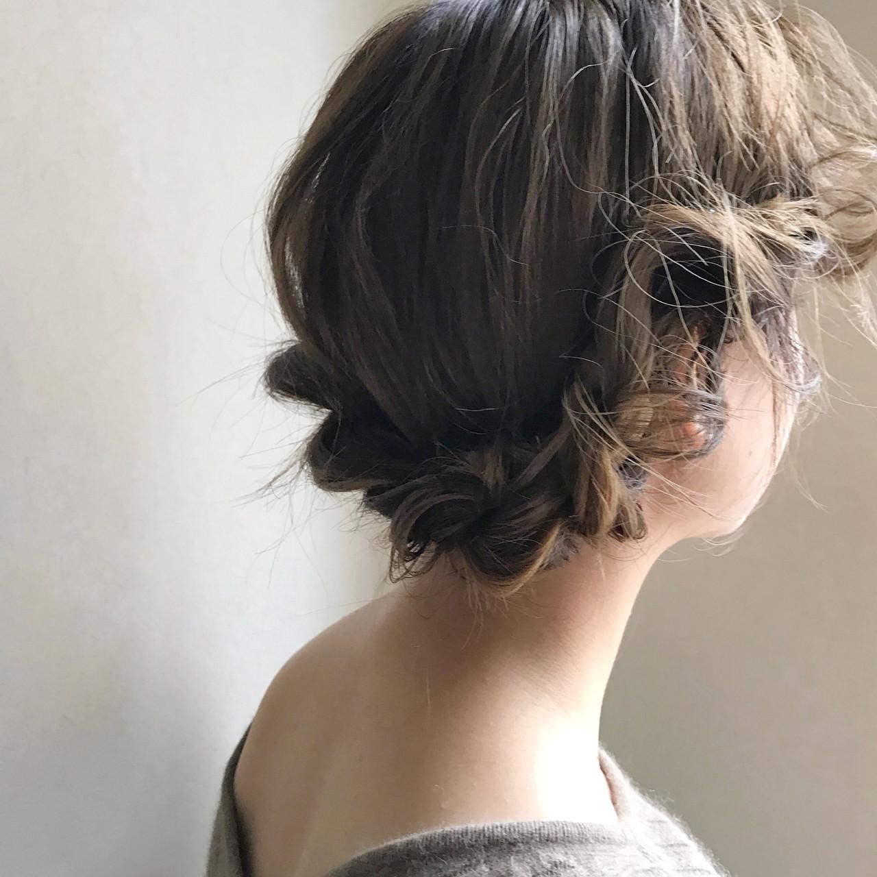 ゆるふわなミディアムヘアのロープ編みアレンジ 吉田将大 | Ricetto