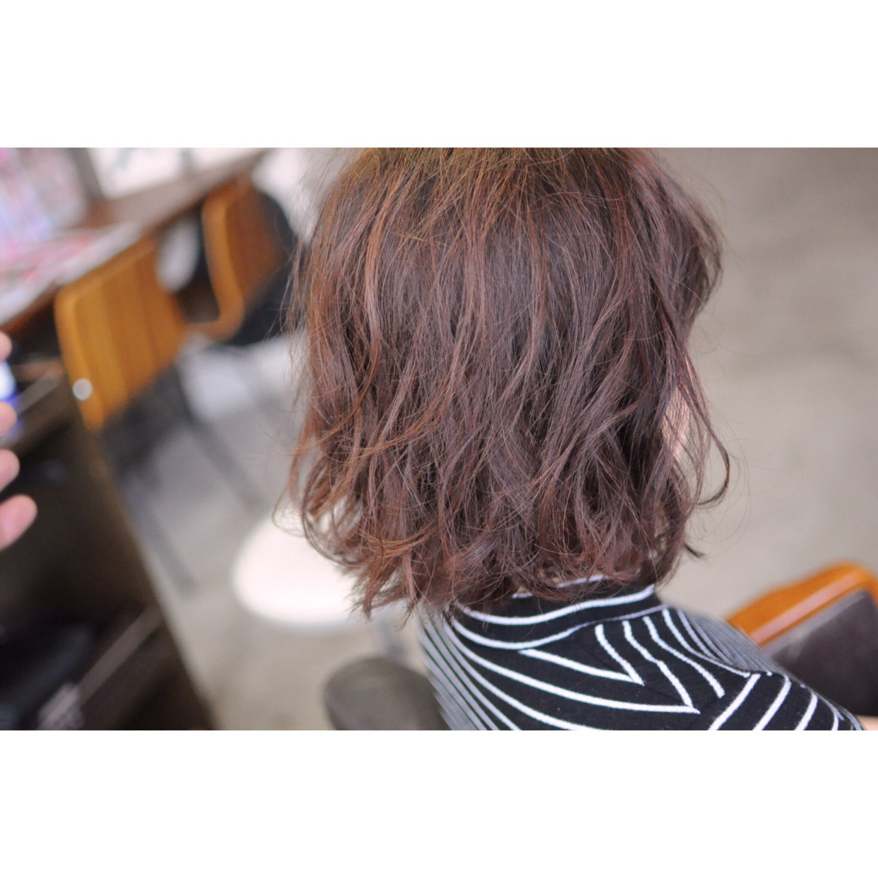 バレイヤージュ 外国人風カラー メッシュ ボブ ヘアスタイルや髪型の写真・画像