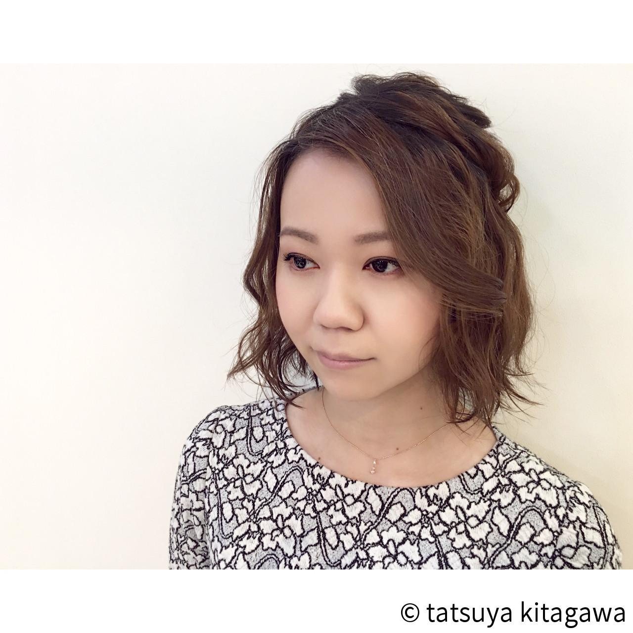 前髪無しボブのハーフアップ tatsuya kitagawa | COURARIR 京都駅前店