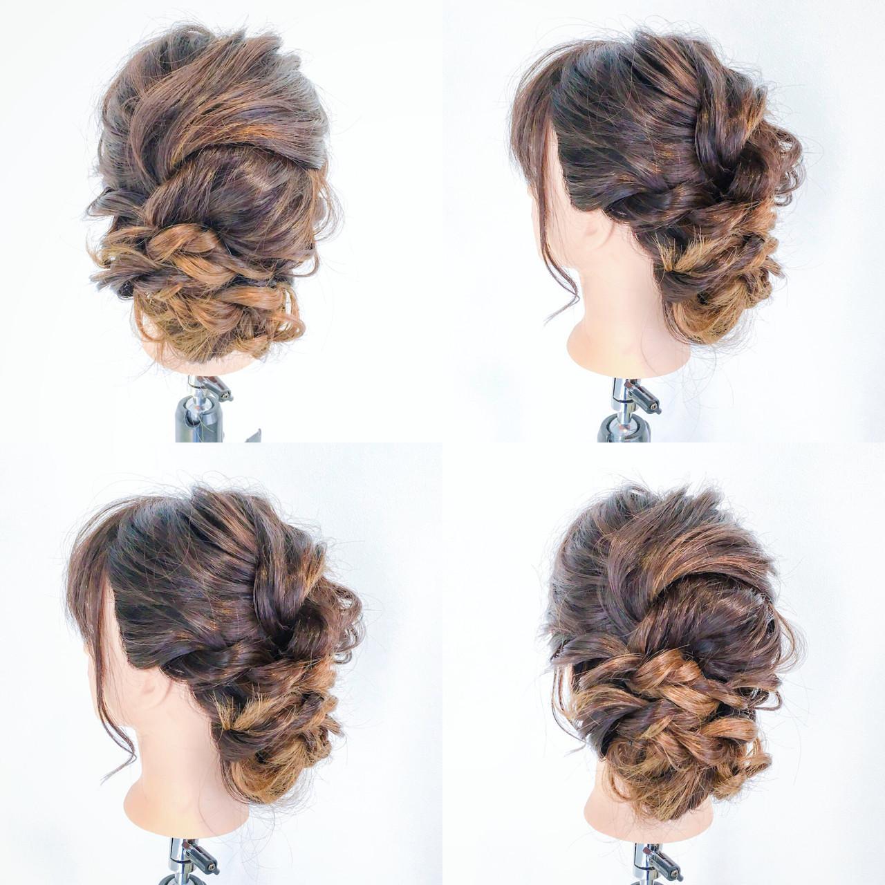 ツイスト編みこみでこなれ感あるまとめ髪に 美容師 HIRO