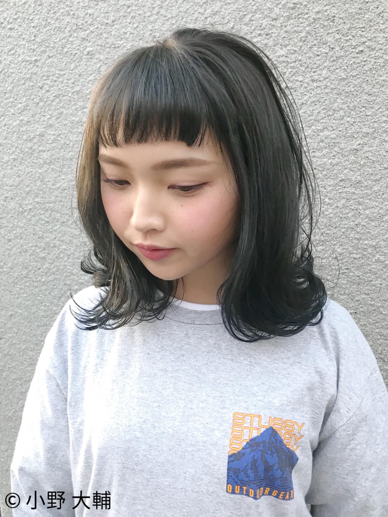 外国人風カラー ロブ 外ハネ ナチュラル ヘアスタイルや髪型の写真・画像