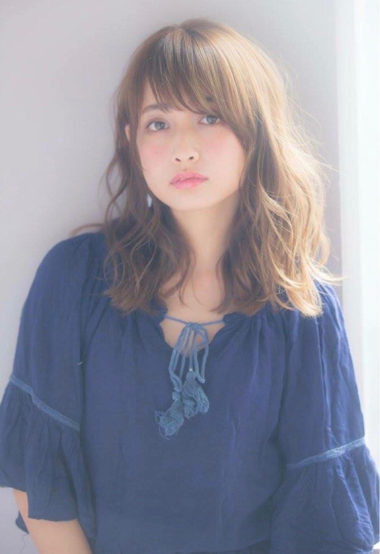 前髪あり パーマ デート 簡単ヘアアレンジ ヘアスタイルや髪型の写真・画像