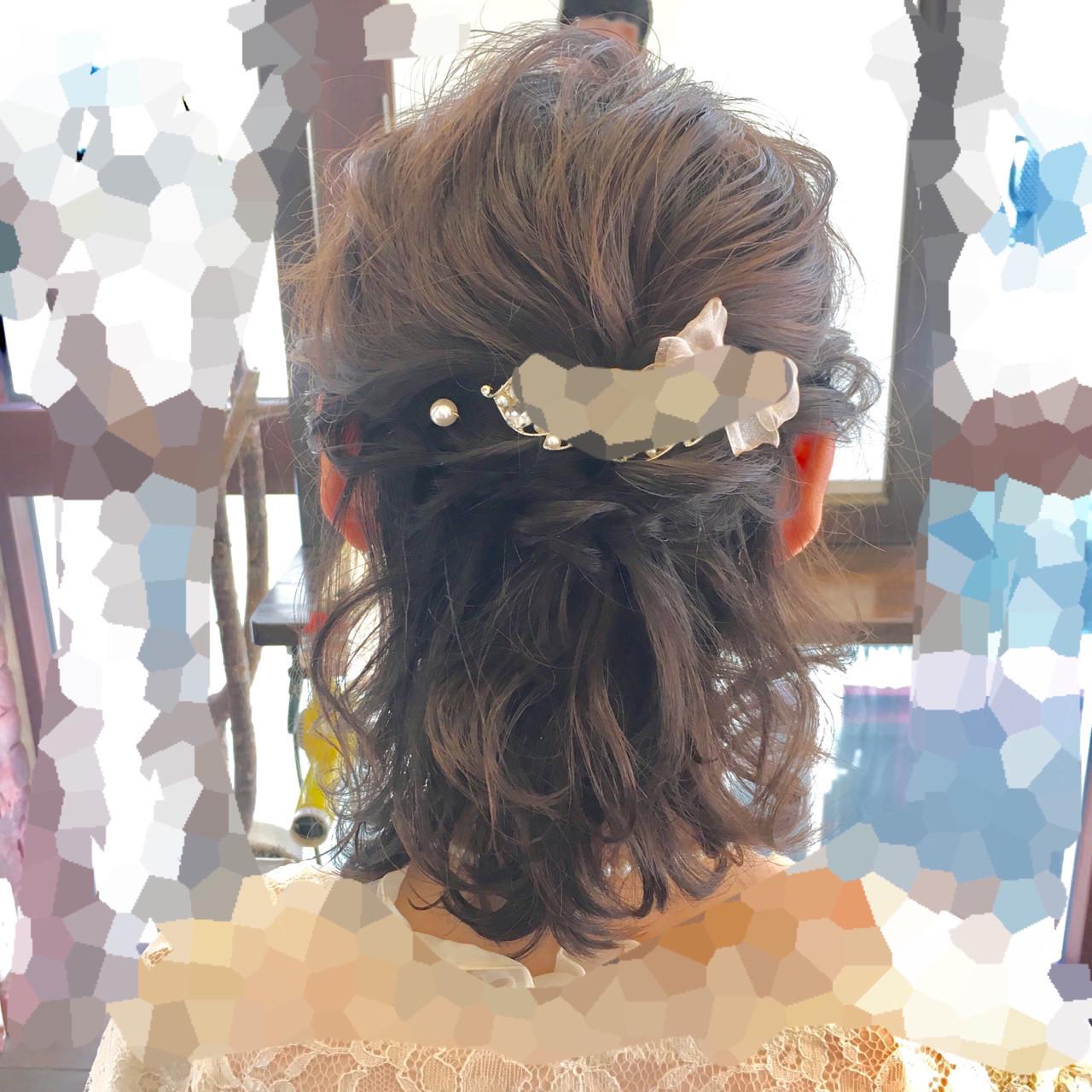 毛先をカールさせれば華やかなお呼ばれヘアに 鈴木 健太郎