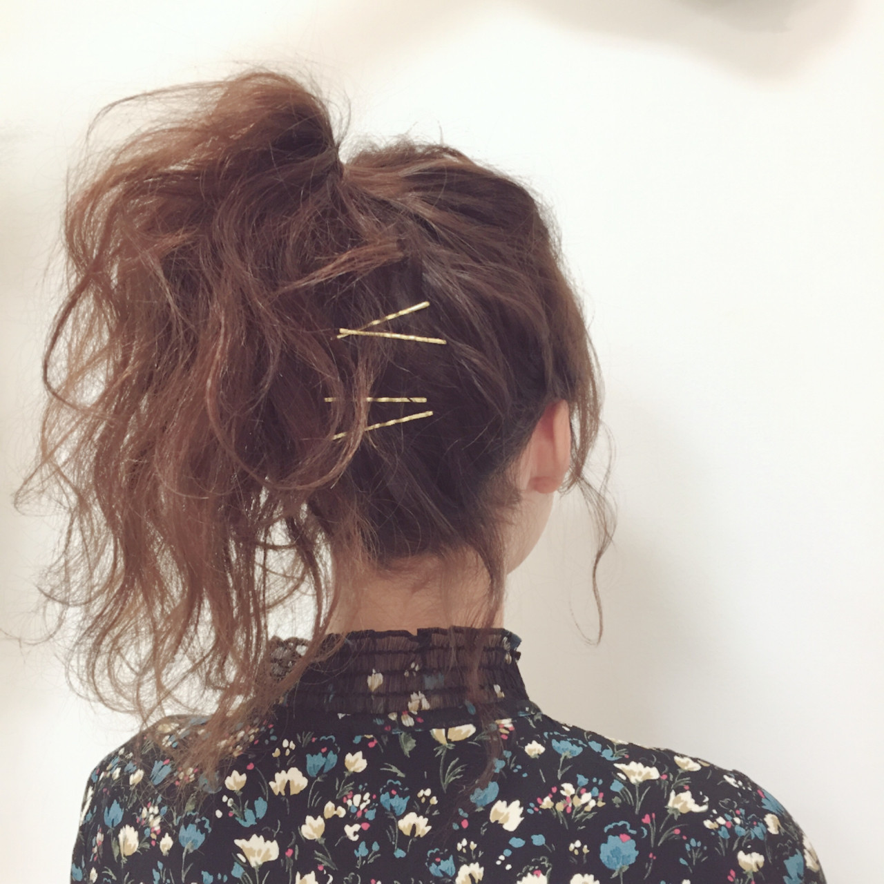 フェミニン ゆるふわ ヘアアレンジ セミロング ヘアスタイルや髪型の写真・画像
