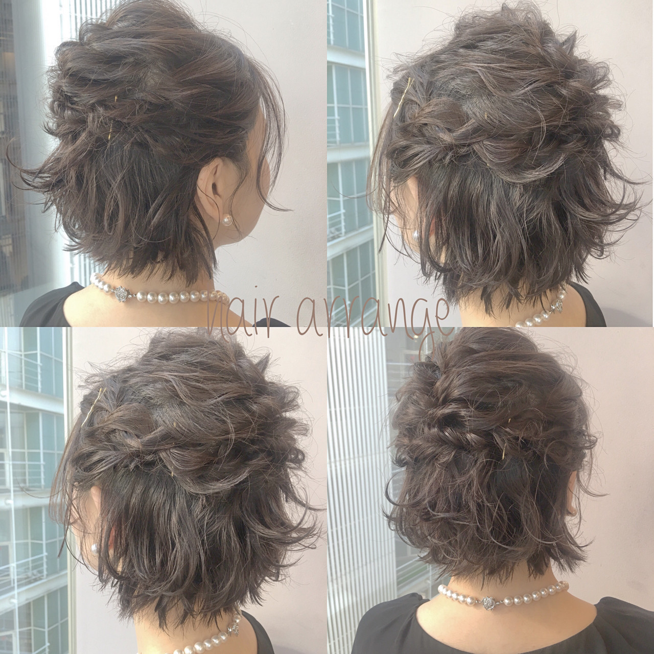 ブライダル ヘアアレンジ デート ショート ヘアスタイルや髪型の写真・画像
