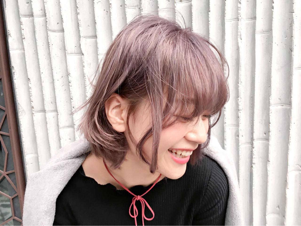 スモーキーピンクで愛されヘアに♡ Keisuke Suzuki