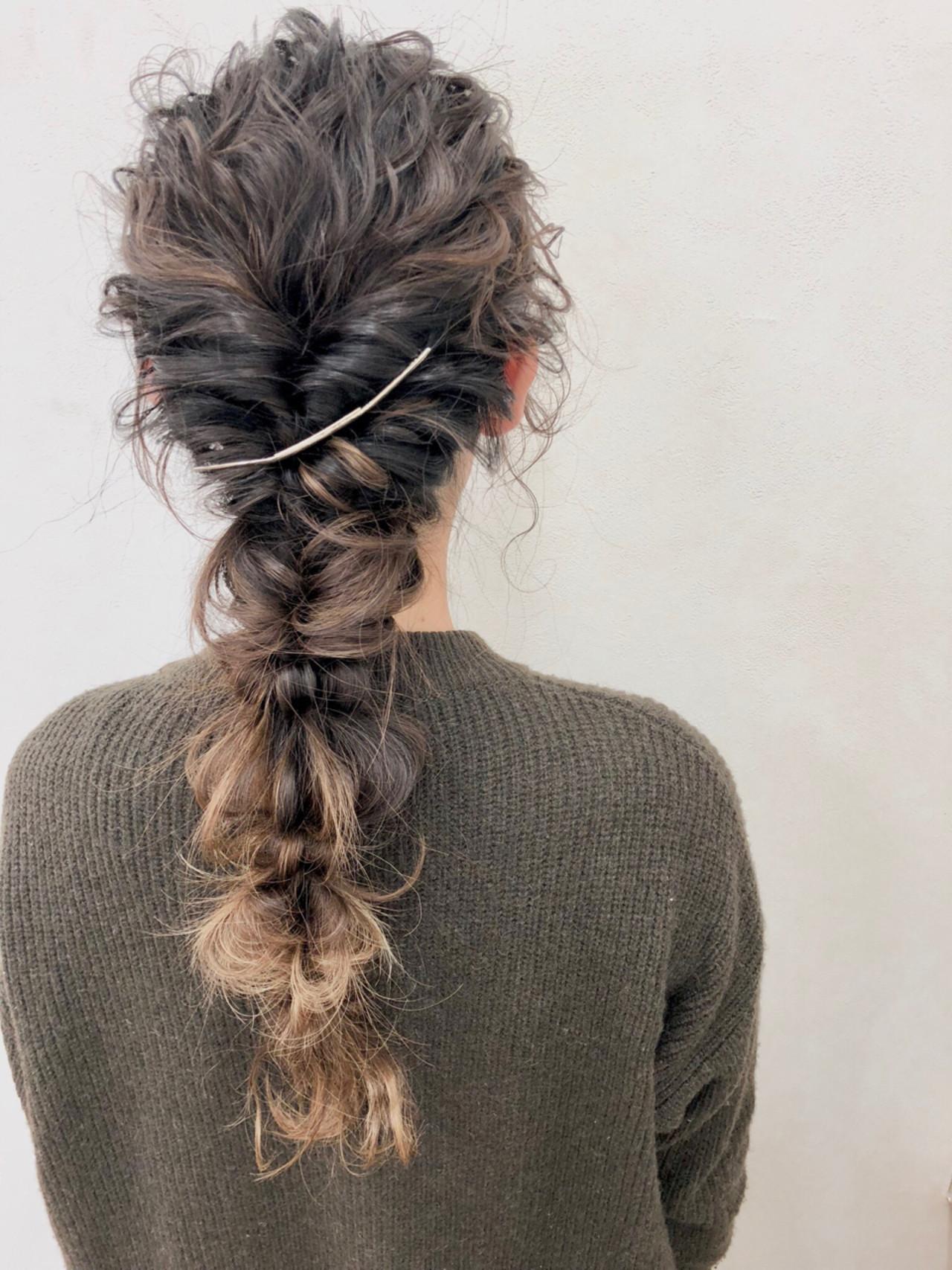 ヘアアレンジ ロング ディズニー 編み込み ヘアスタイルや髪型の写真・画像