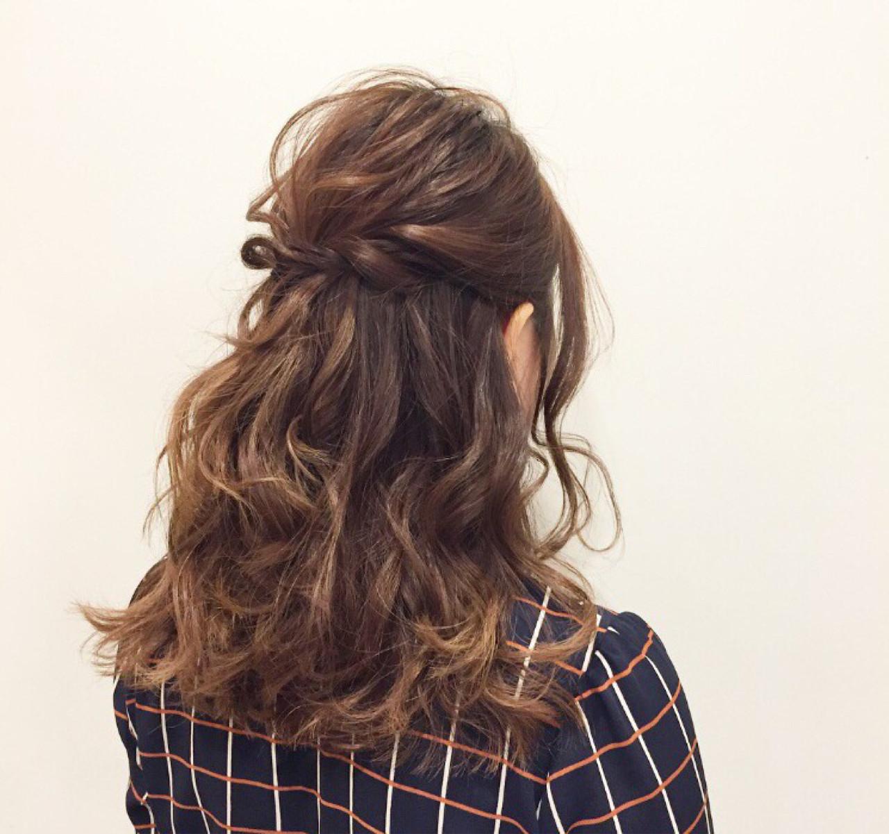 結婚式 ヘアアレンジ 謝恩会 簡単ヘアアレンジ ヘアスタイルや髪型の写真・画像