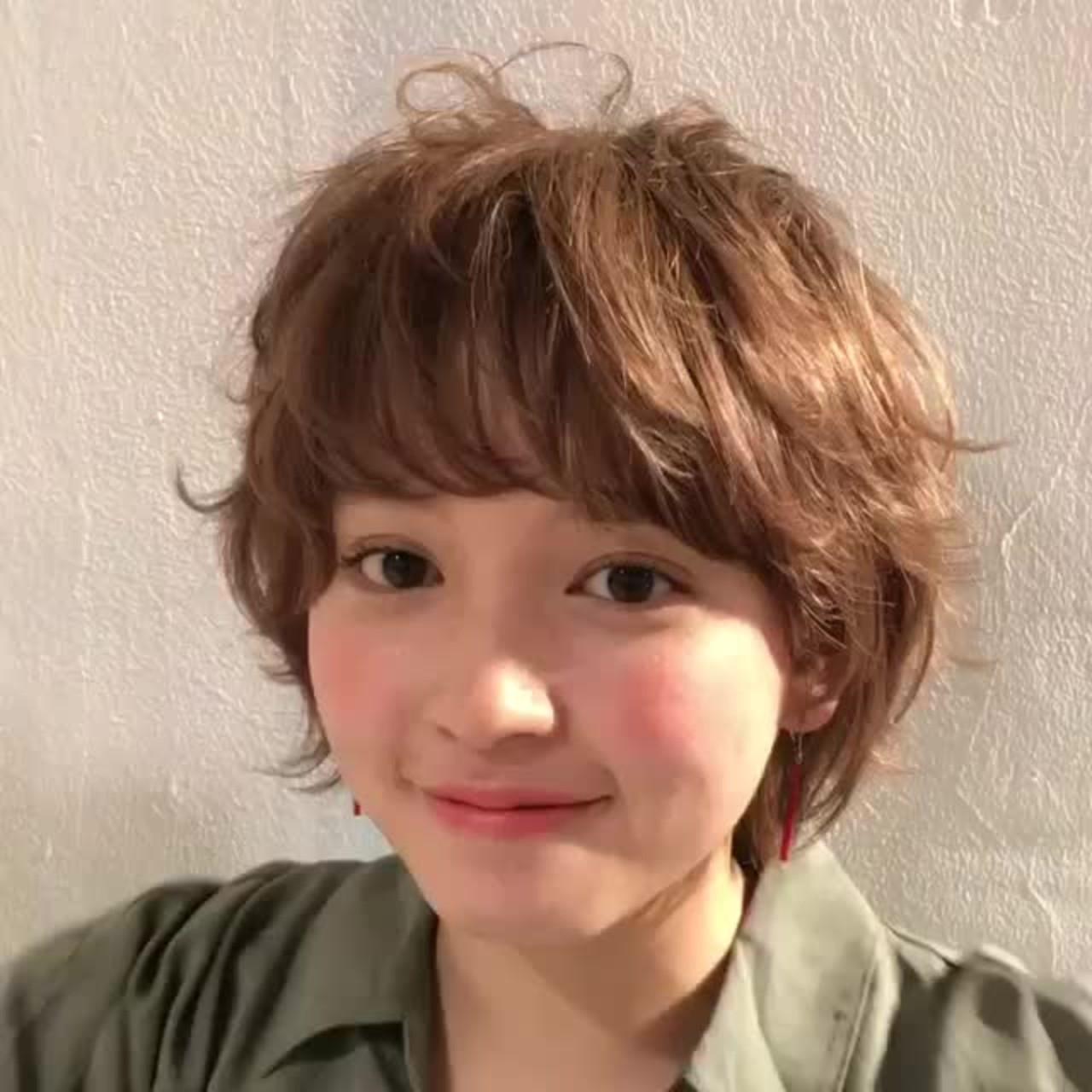 シナモンベージュの愛され系ボーイッシュヘア 伊藤愛子 GARDEN