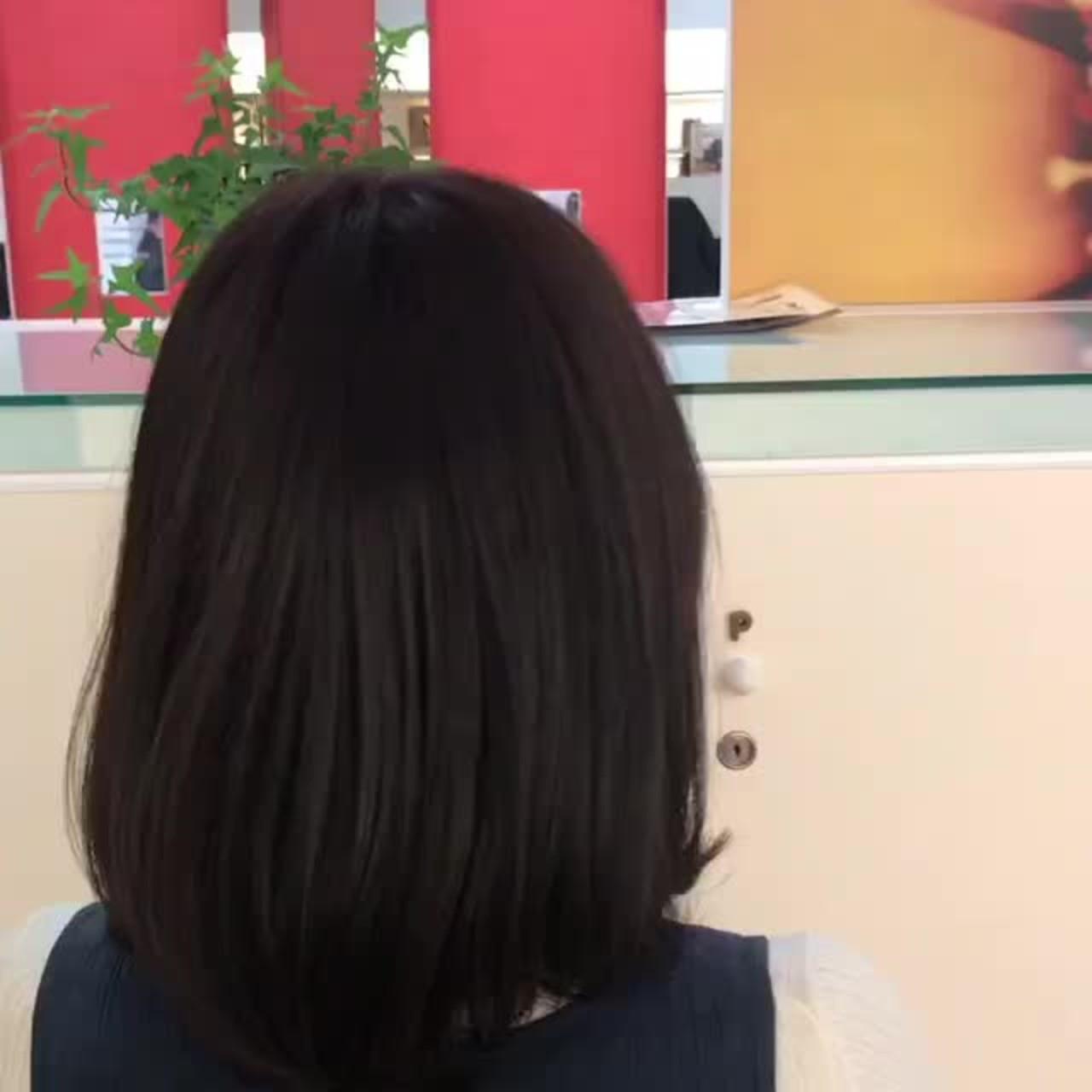 大人女子 バレンタイン ピンクブラウン ナチュラル ヘアスタイルや髪型の写真・画像
