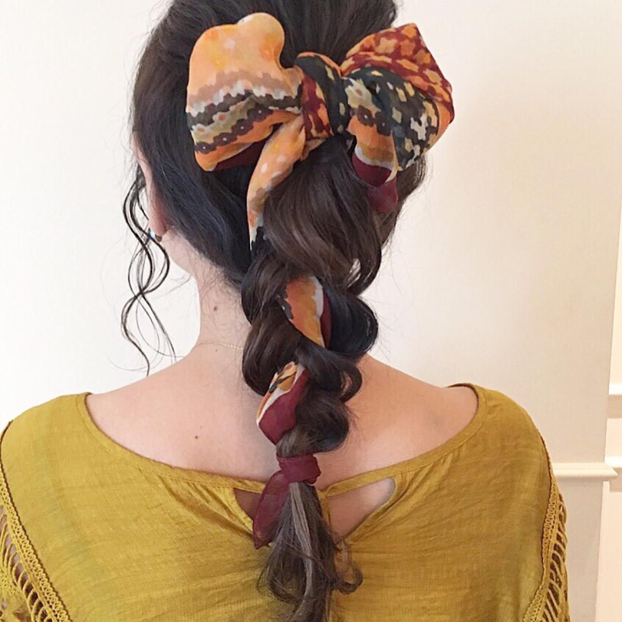 ガーリー 大人女子 ロング 編み込み ヘアスタイルや髪型の写真・画像