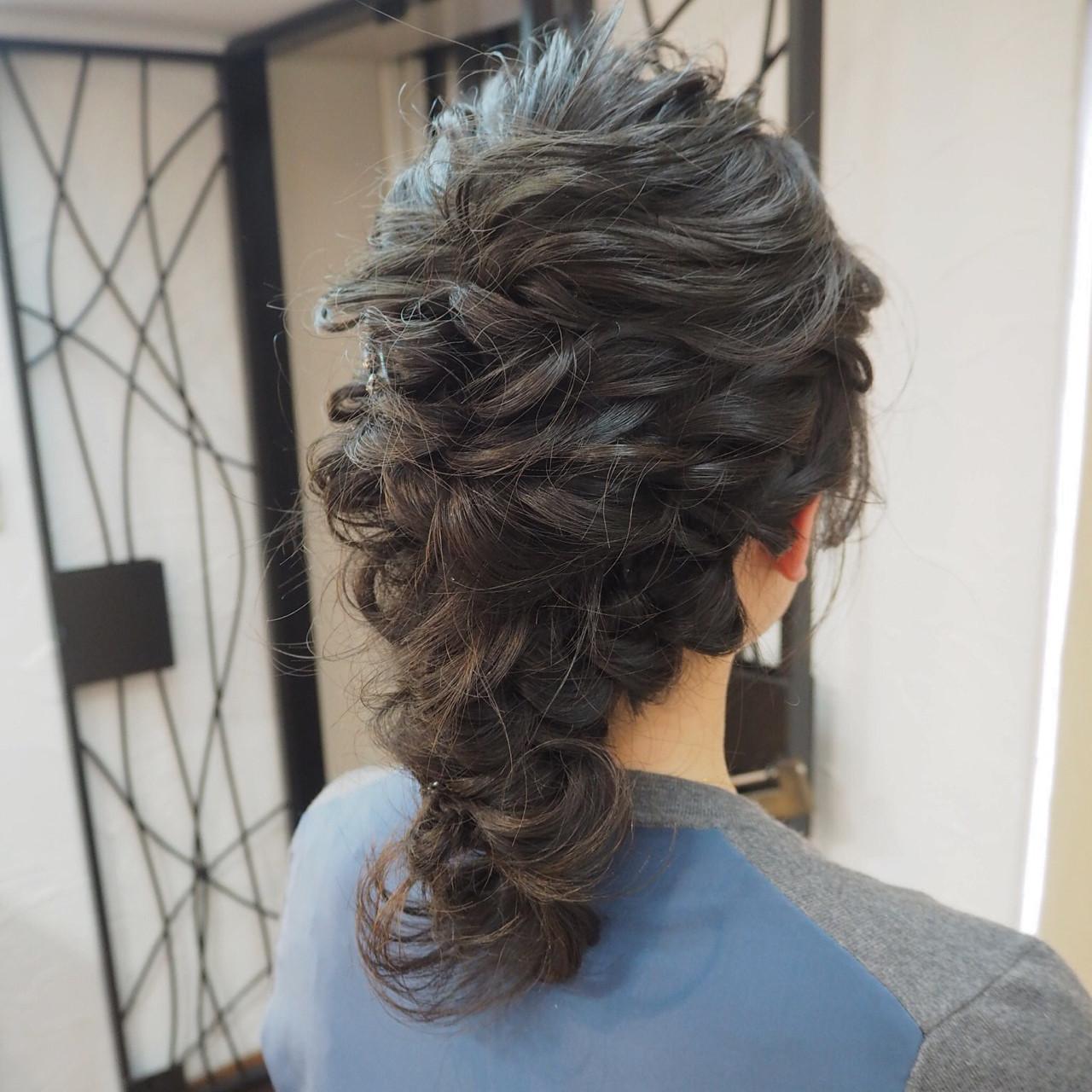 結婚式 オフィス ミディアム ナチュラル ヘアスタイルや髪型の写真・画像