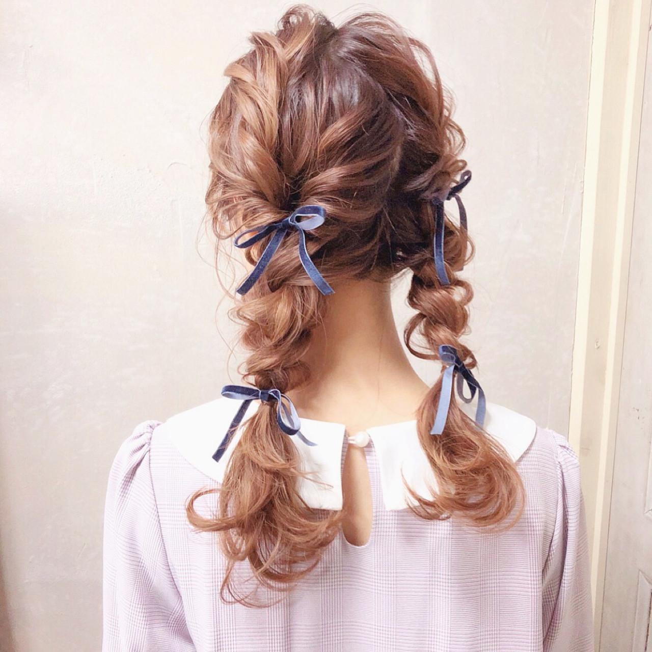 三つ編み ヘアアレンジ 結婚式 ロング ヘアスタイルや髪型の写真・画像