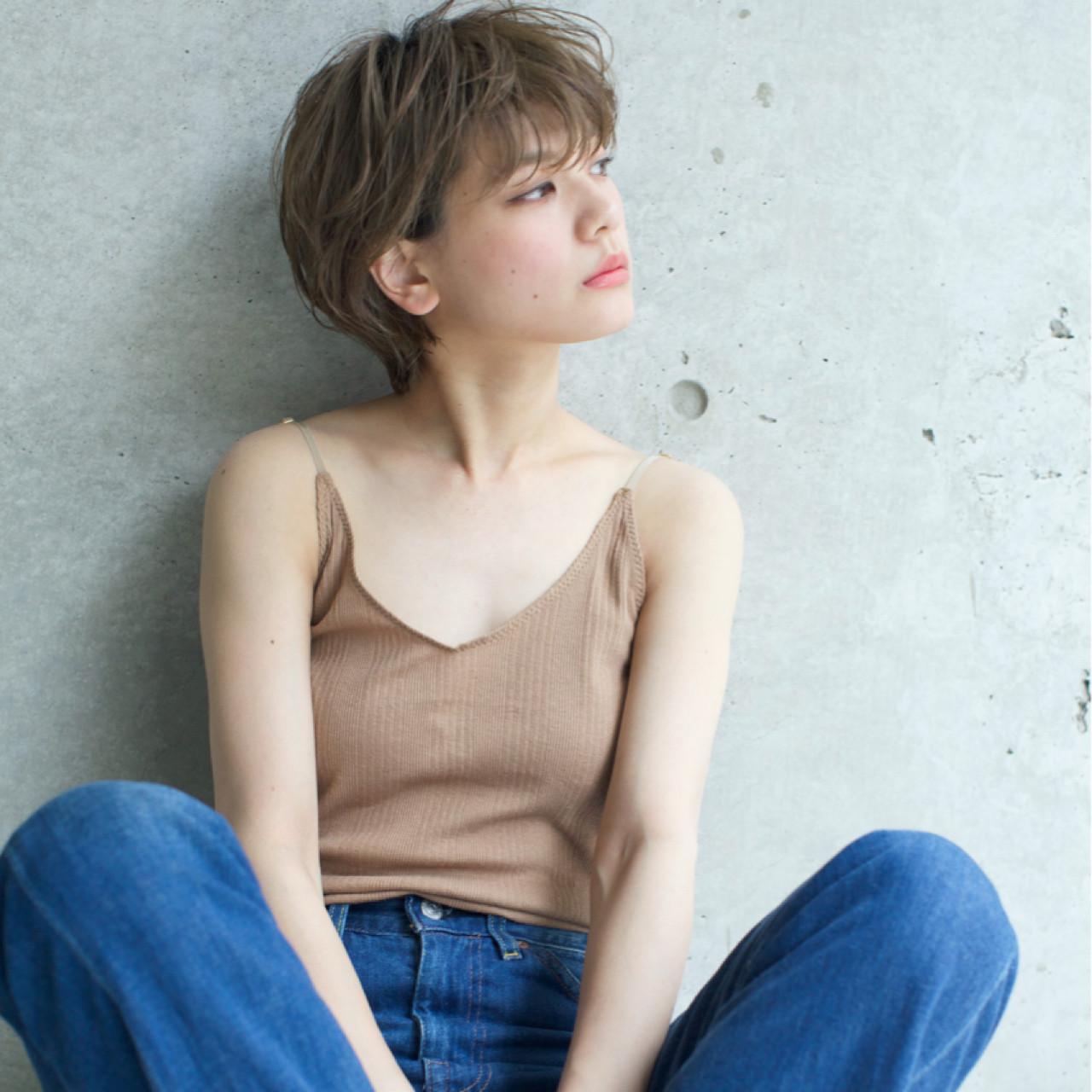 マニッシュだけどきれいめ斜め前髪のショート 佐脇 正徳