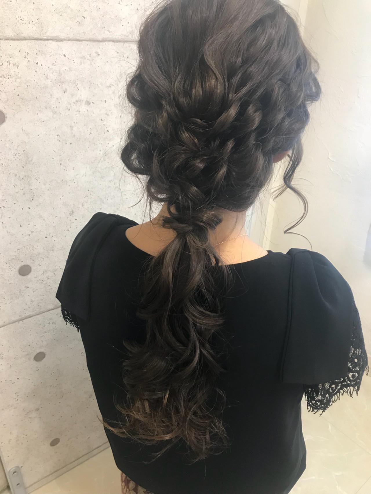 ふわっとエレガント♡大人女性のふわふわ編み込みヘア 大平 結花