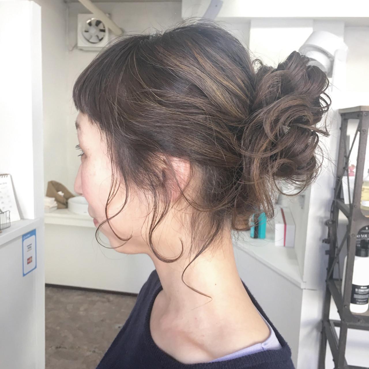 アップスタイルの髪型セットのコツ kazue