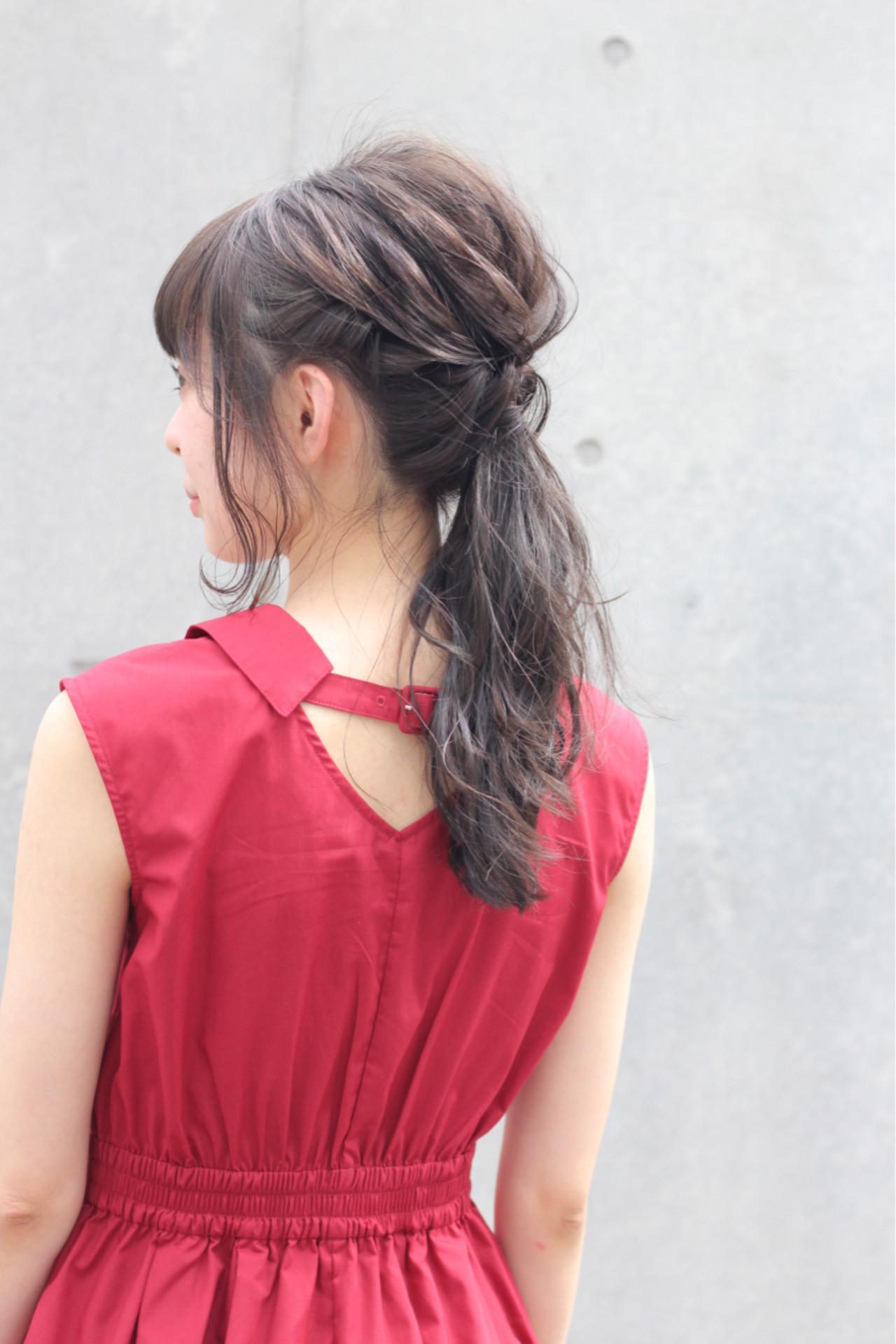 ポニーテールの王道!女子力高めのヘアアレンジ Wataru Maeda