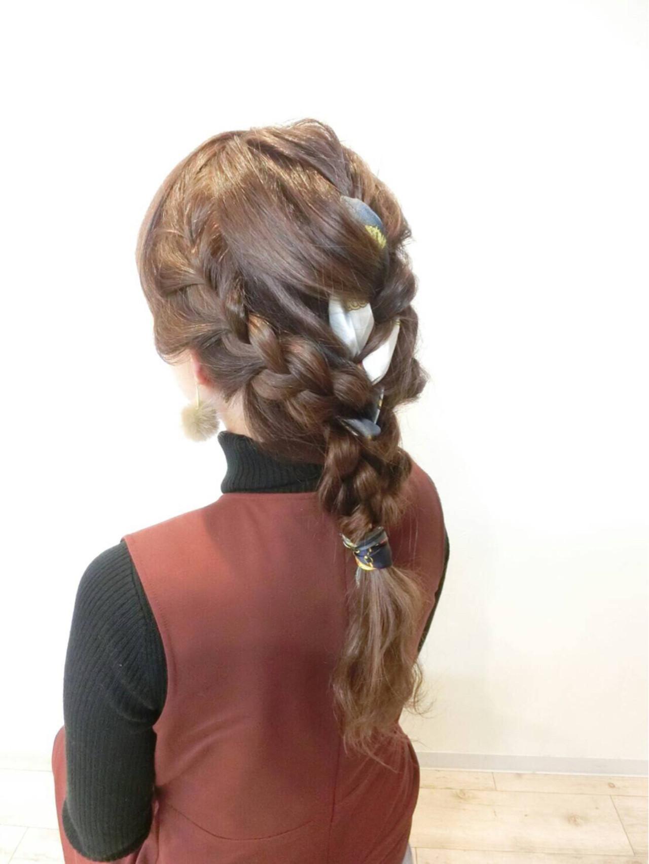 ヘアアレンジ ロング ヘアアクセ ヘアスタイルや髪型の写真・画像