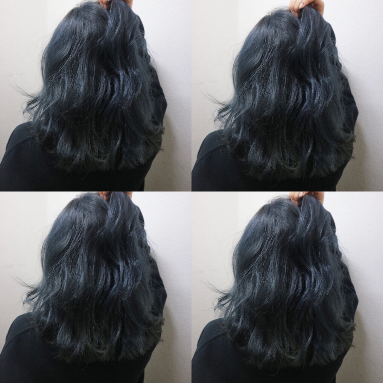 ブリーチありでくっきり青みネイビーアッシュ TAKA  cecil hair 烏丸店
