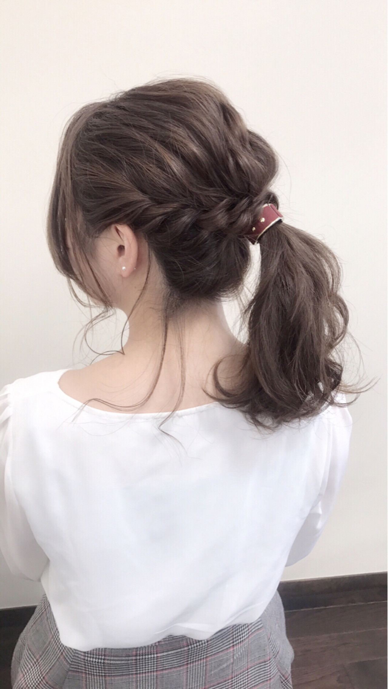 ヘアアレンジ フェミニン 簡単ヘアアレンジ セミロング ヘアスタイルや髪型の写真・画像