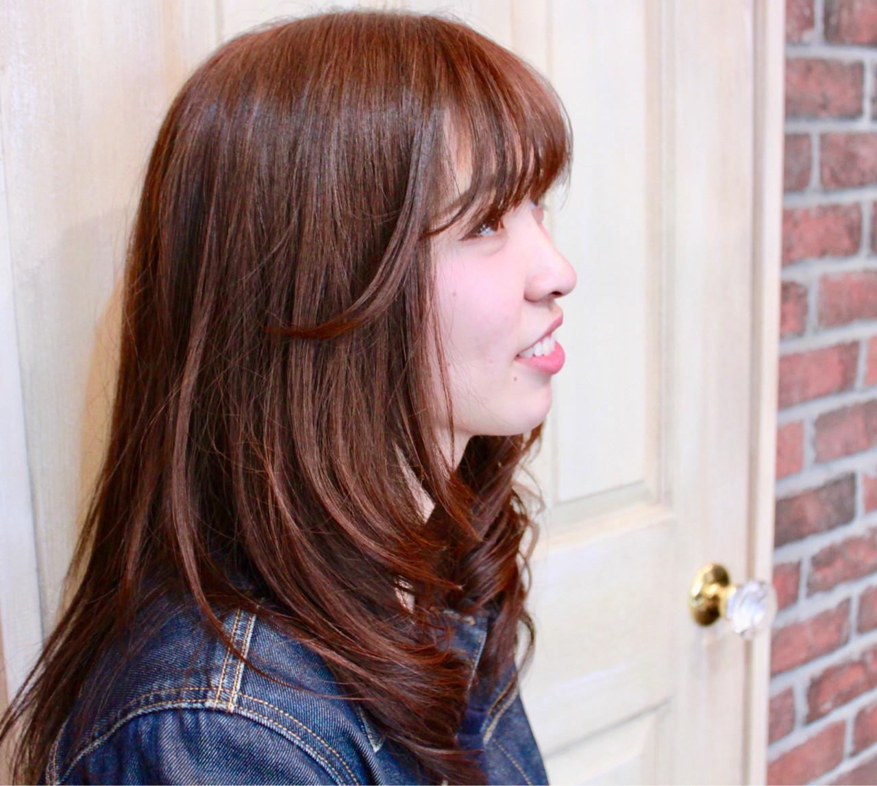 ロング ワンカール 大人女子 アメジスト ヘアスタイルや髪型の写真・画像