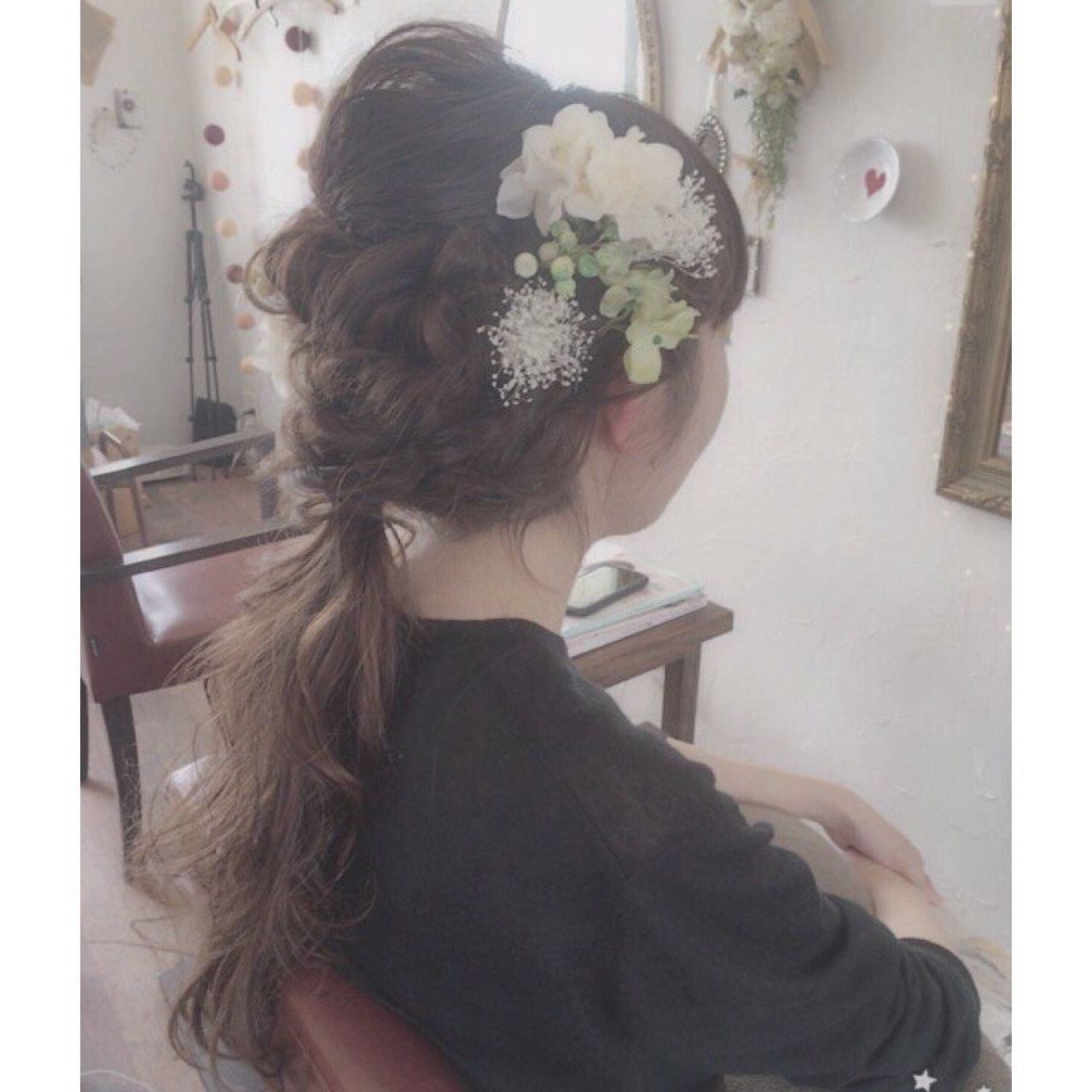 ガーリー ロング アッシュ 二次会 ヘアスタイルや髪型の写真・画像