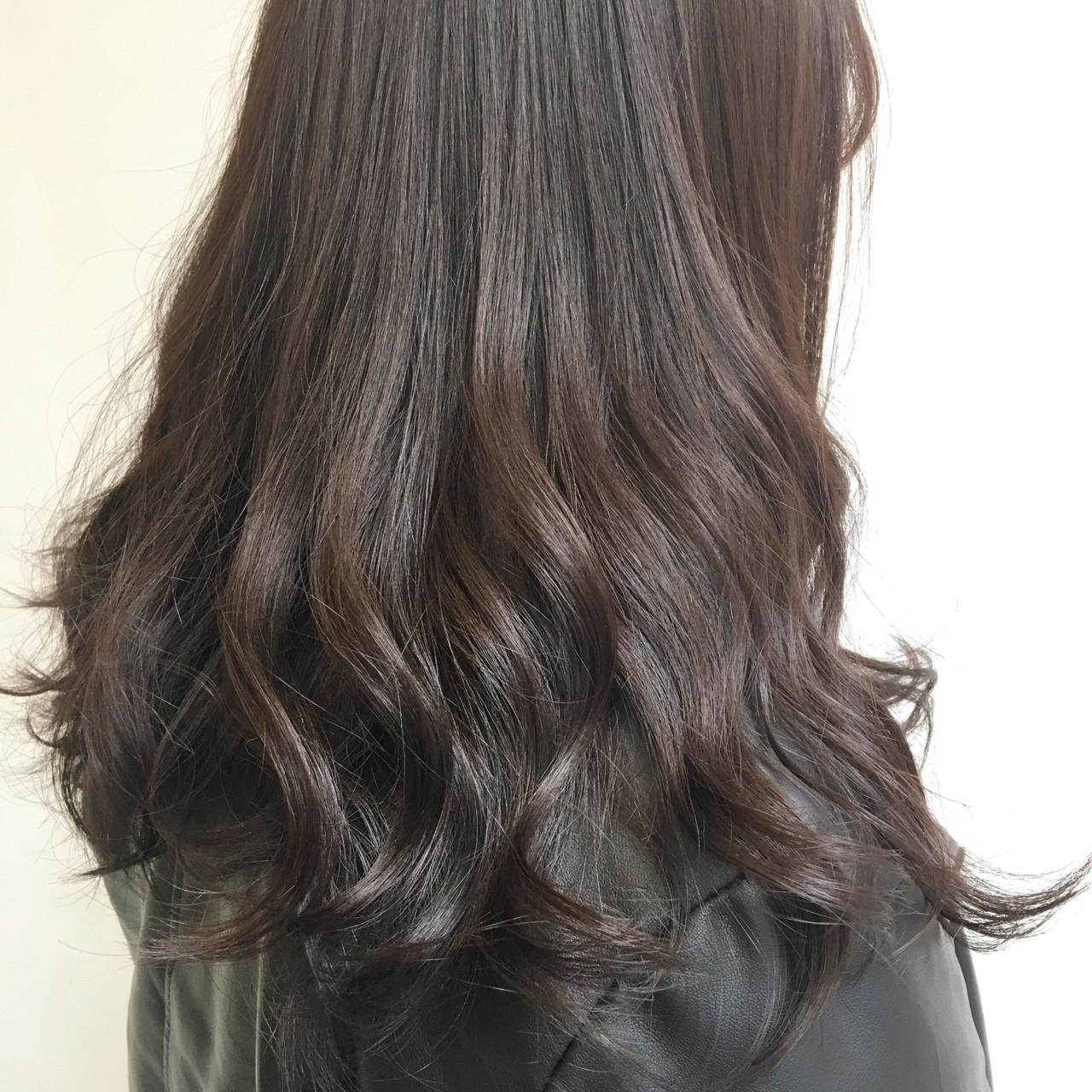 ピンクブラウン 謝恩会 春 セミロング ヘアスタイルや髪型の写真・画像