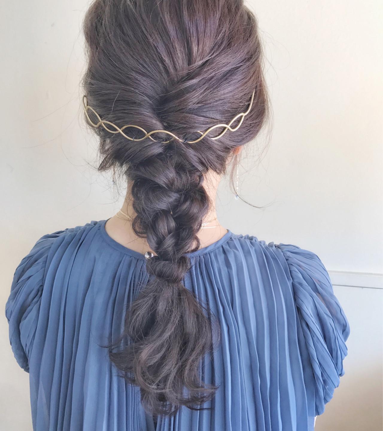色気 結婚式 ヘアアレンジ 涼しげ ヘアスタイルや髪型の写真・画像