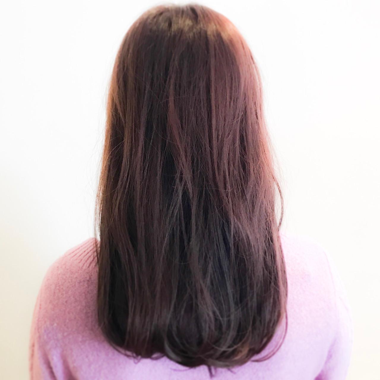 女子力 ナチュラル ロング ピンクブラウン ヘアスタイルや髪型の写真・画像