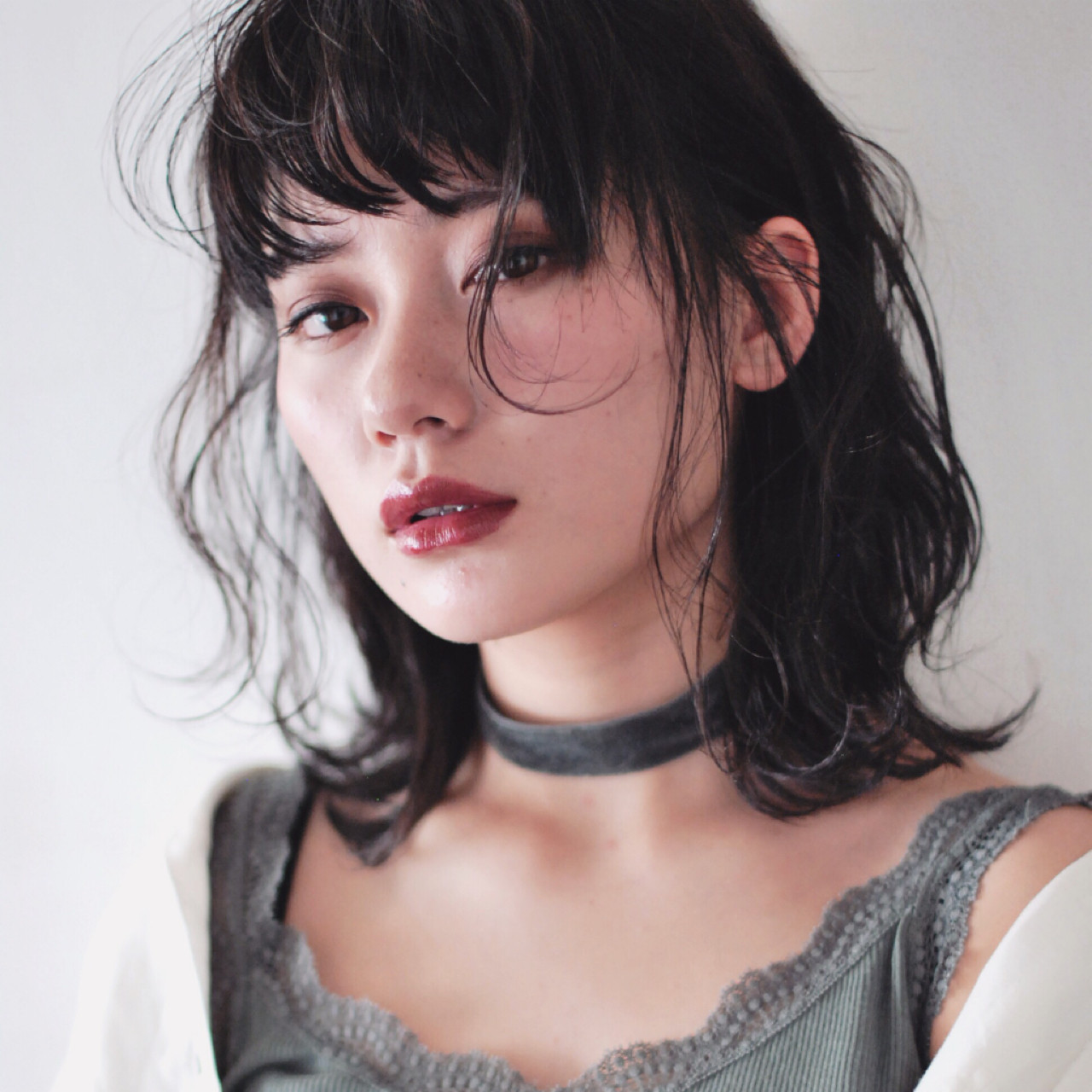 ミディアム 大人女子 外ハネ ナチュラル ヘアスタイルや髪型の写真・画像