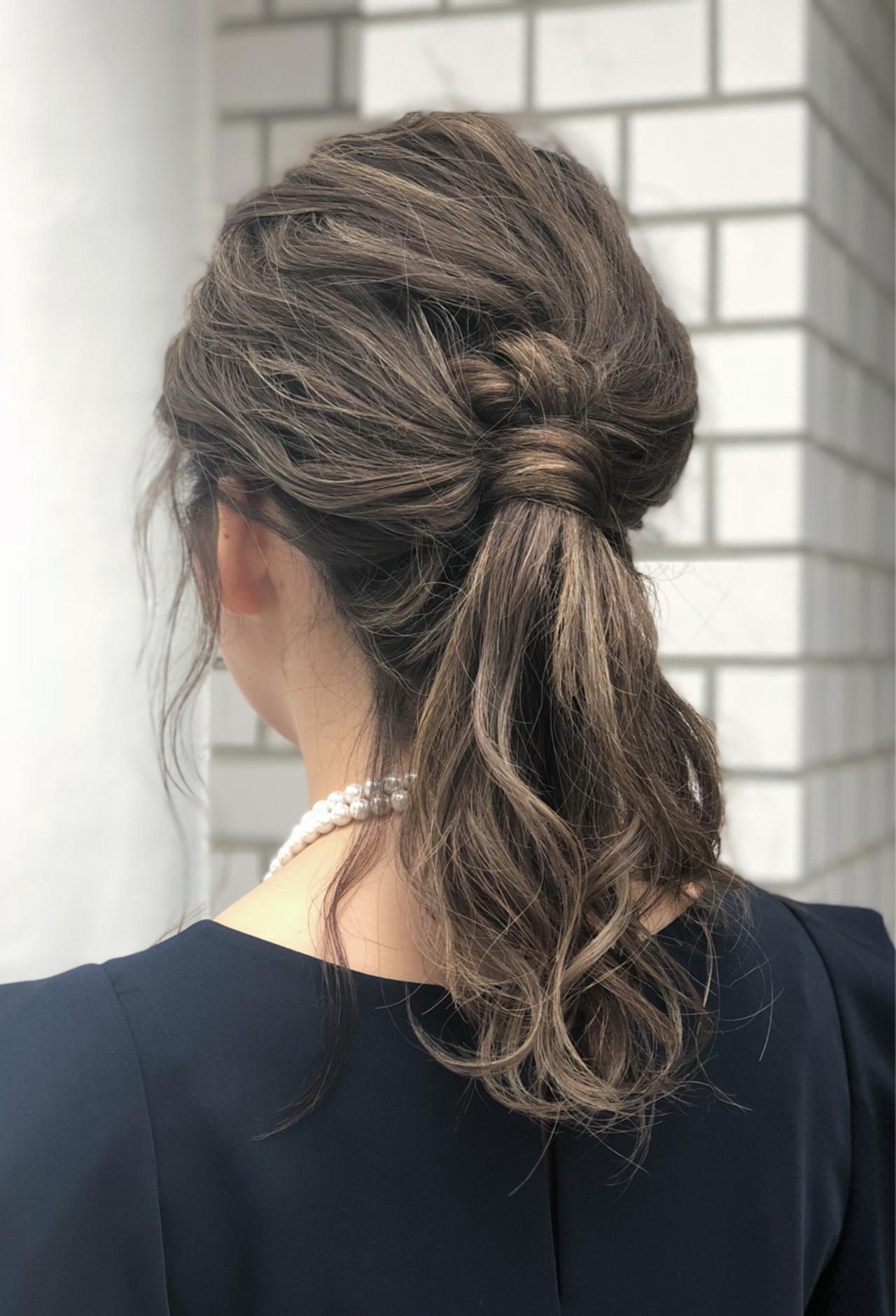 大人っぽいローポニーテール×くるりんぱ 我妻大地 | GREEK Hair Design