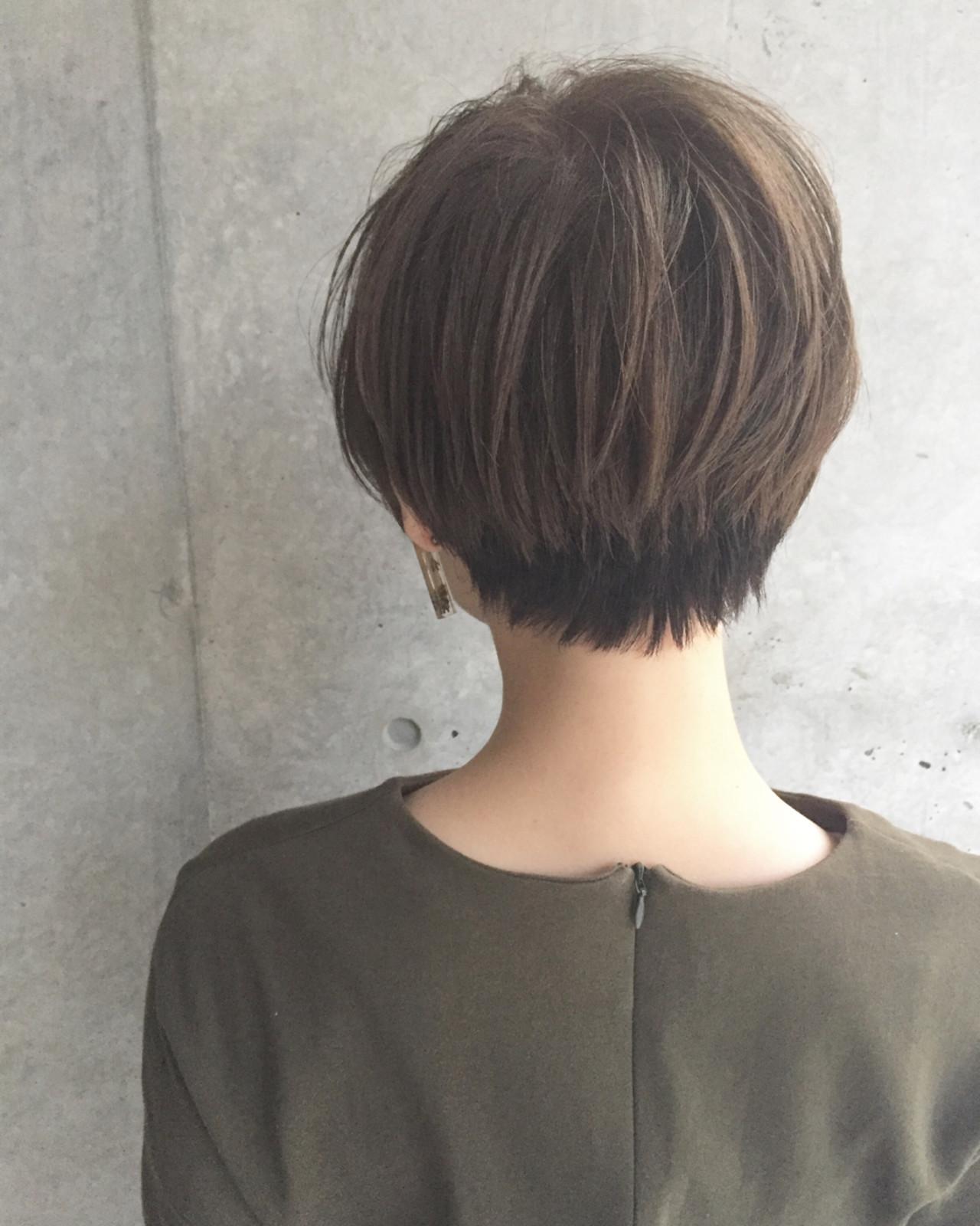 ナチュラルなツートーンショート 前田賢太 HOULe 表参道