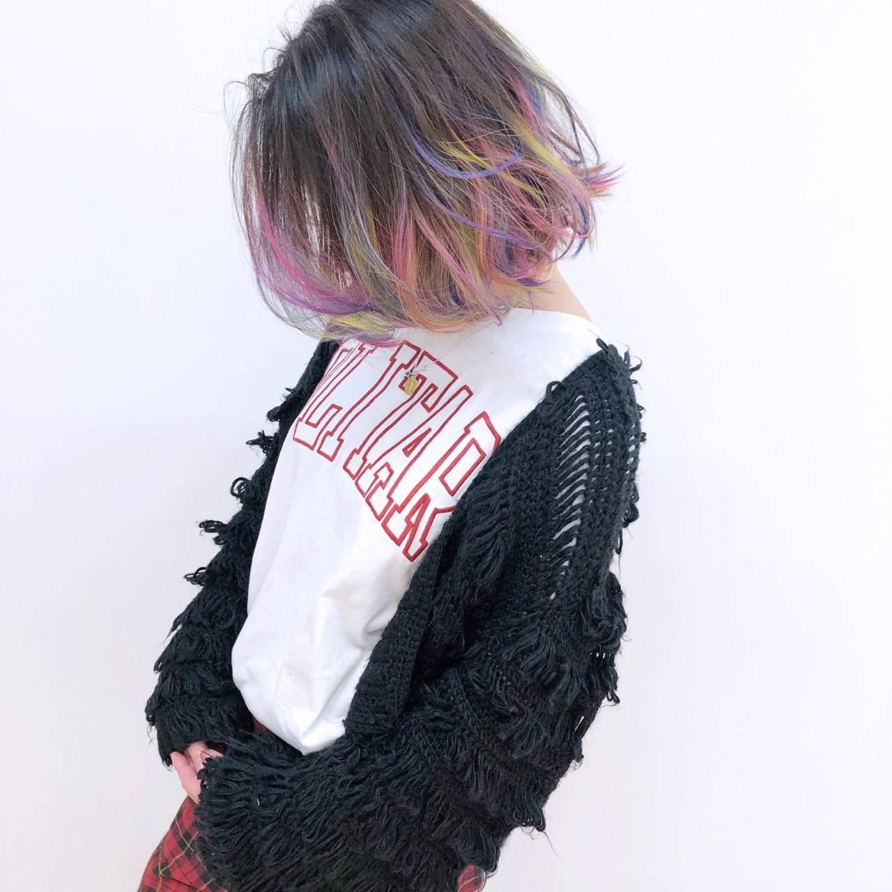 カラフルな毛先がかわいいグラデヘア YSO