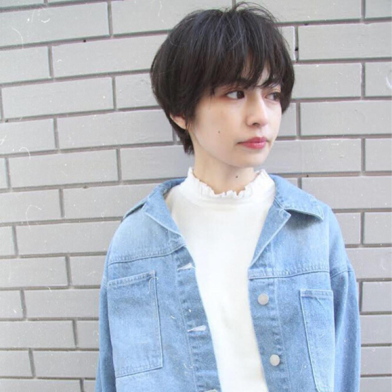 ミステリアスな黒髪×ショートストレート 坂本一馬 | mod's hair