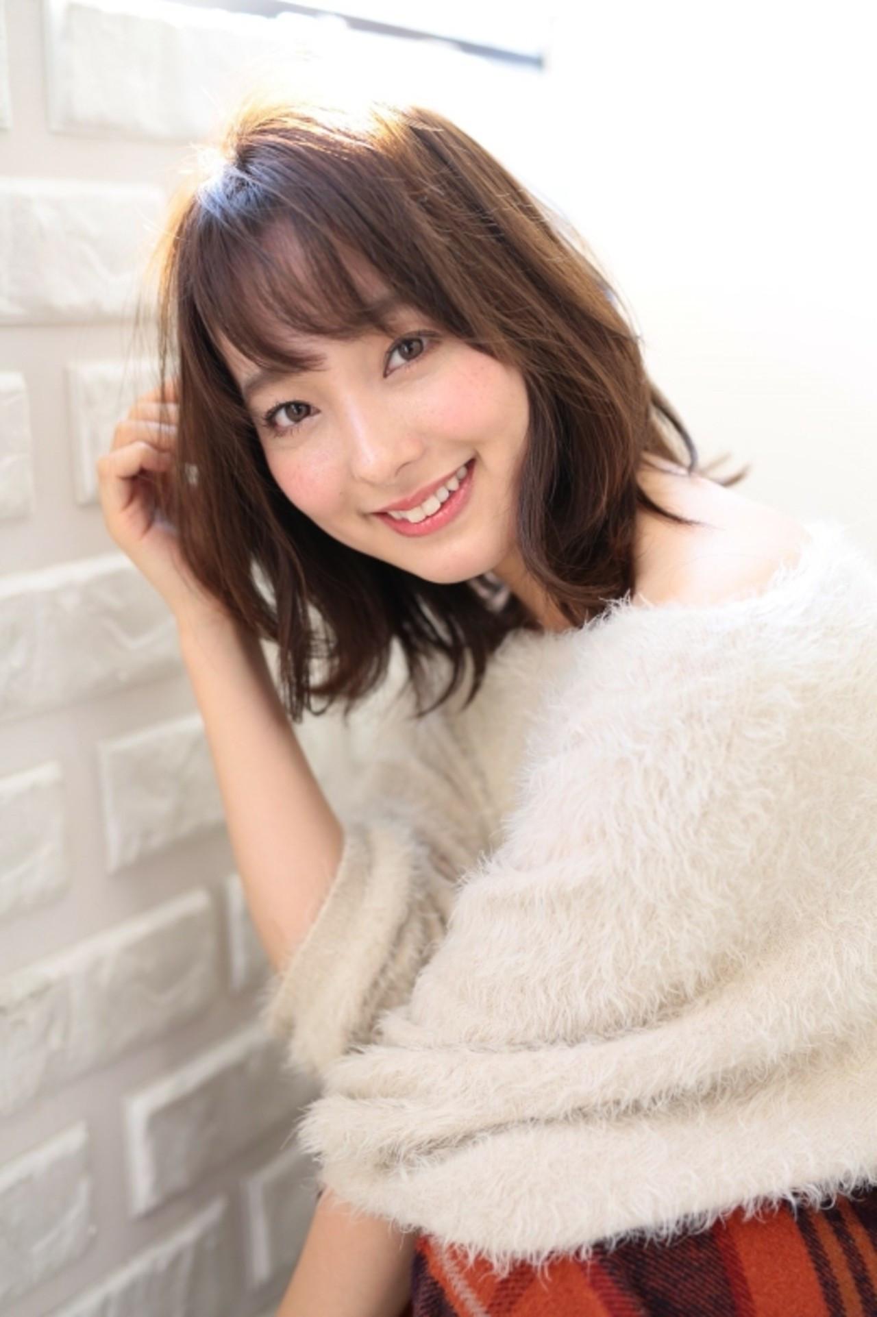 40代向け♪面長さんのミディアムの髪型 asuka