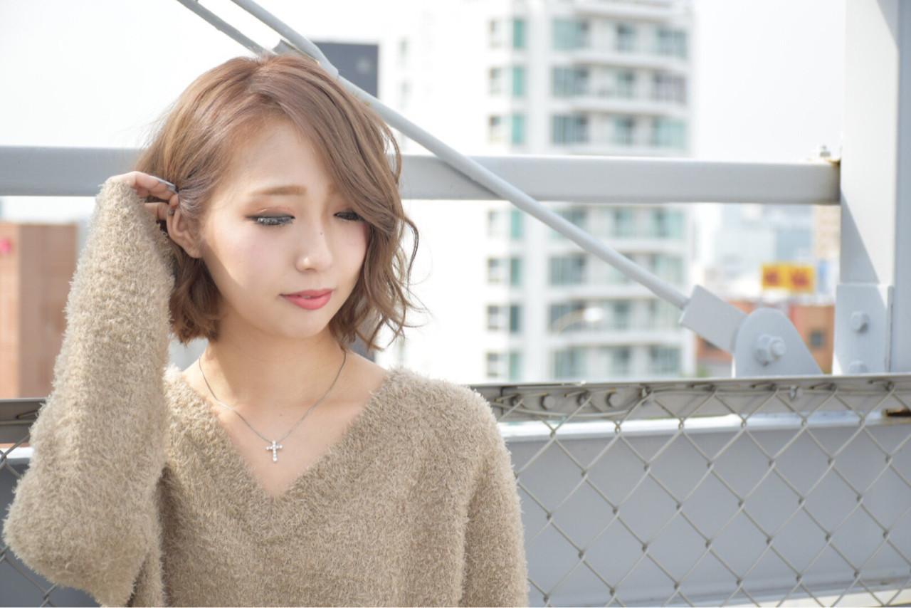 おすすめミルクティーアッシュヘア② 佐藤 沙緒 | hair make fox