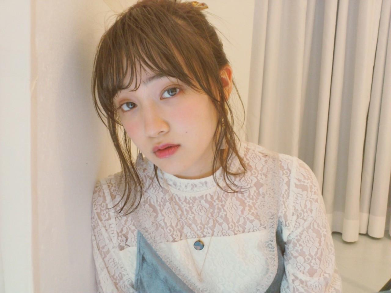 面長向けミディアムのヘアアレンジ Yukie Horiuchi | グランマッシュ
