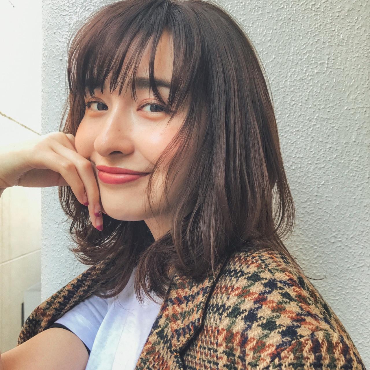 レイヤー入りミディアムと面長のポイント GARDEN harajyuku 細田 | GARDEN harajyuku