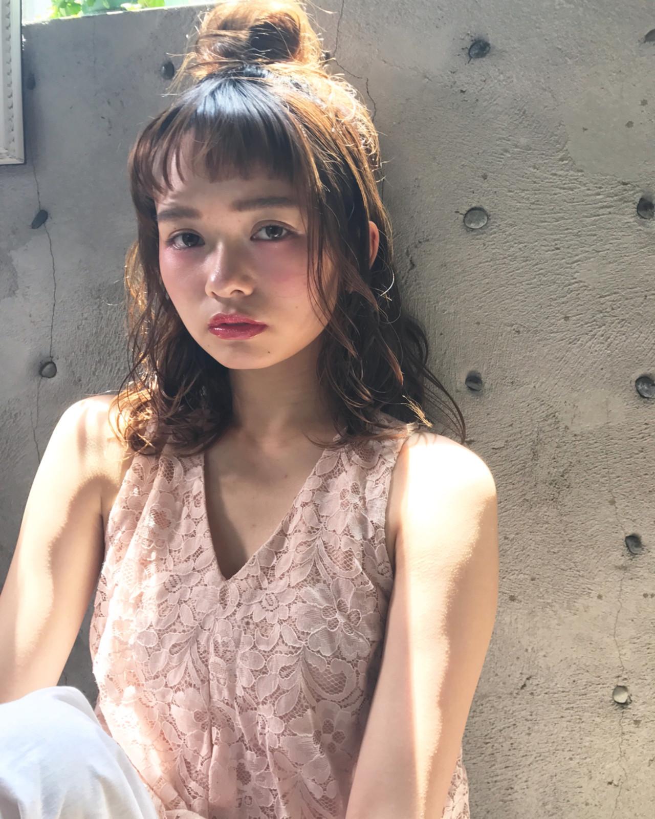 フェミニン♡ハーフアップお団子アレンジ Wataru Maeda