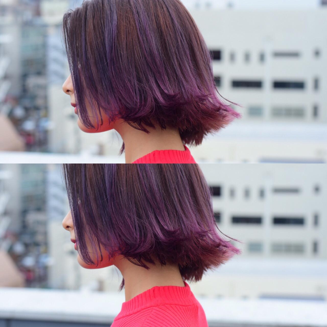 暗めピンクアッシュスタイル カワノナオト【福岡美容師】 | kchiara