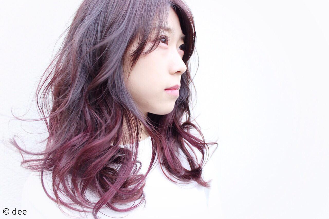 黒髪を変身させるグラデーションカラー dee | dee