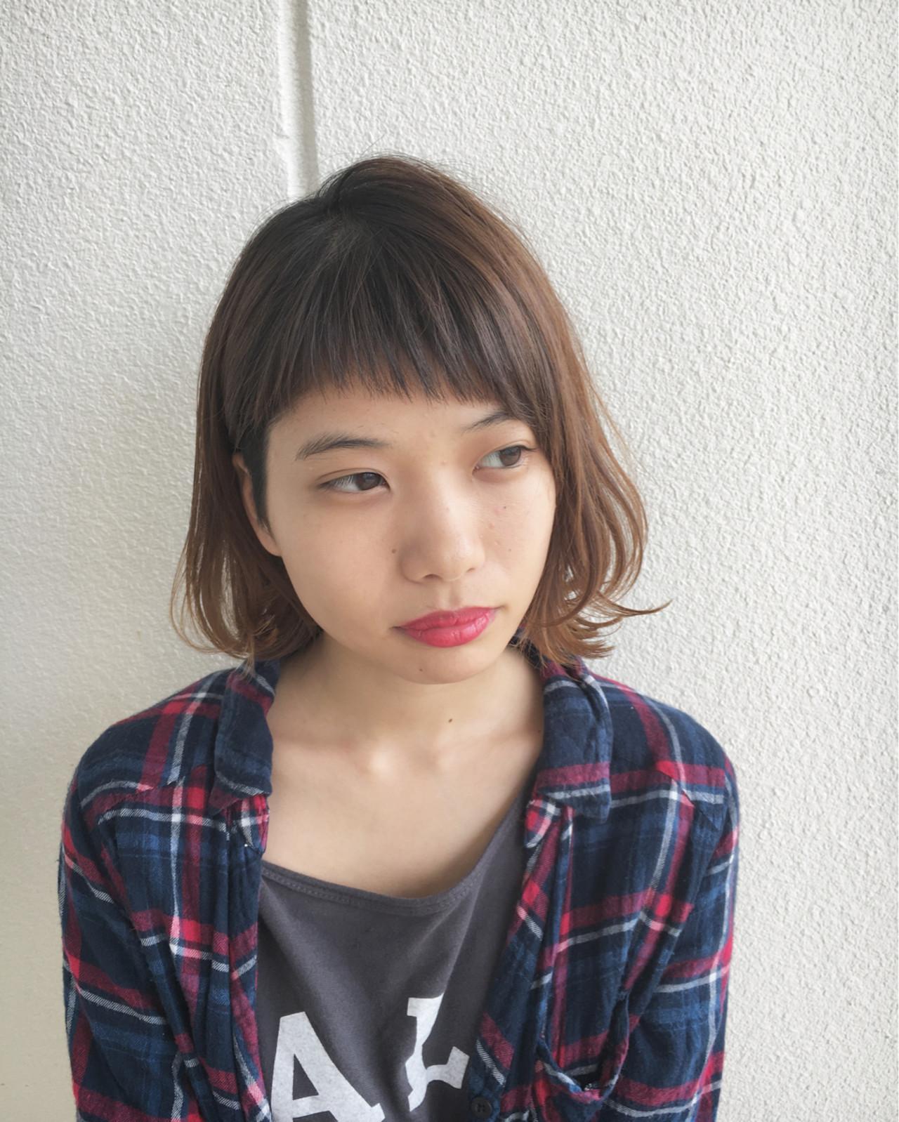 ラウンド前髪×ツーブロック Yuuta Asato