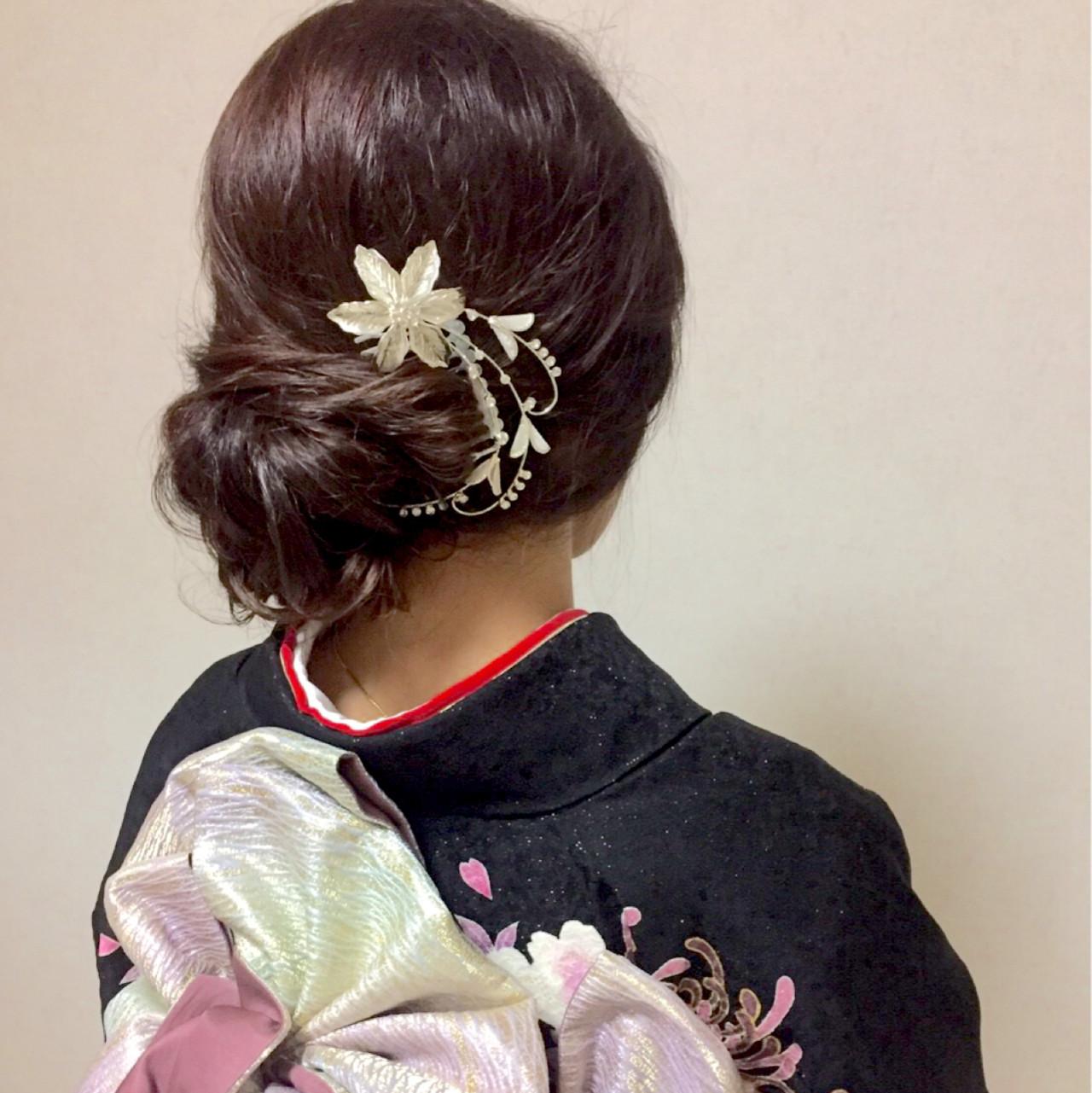 ツヤっぽい大人のミディアムヘアアレンジ Moriyama Mami