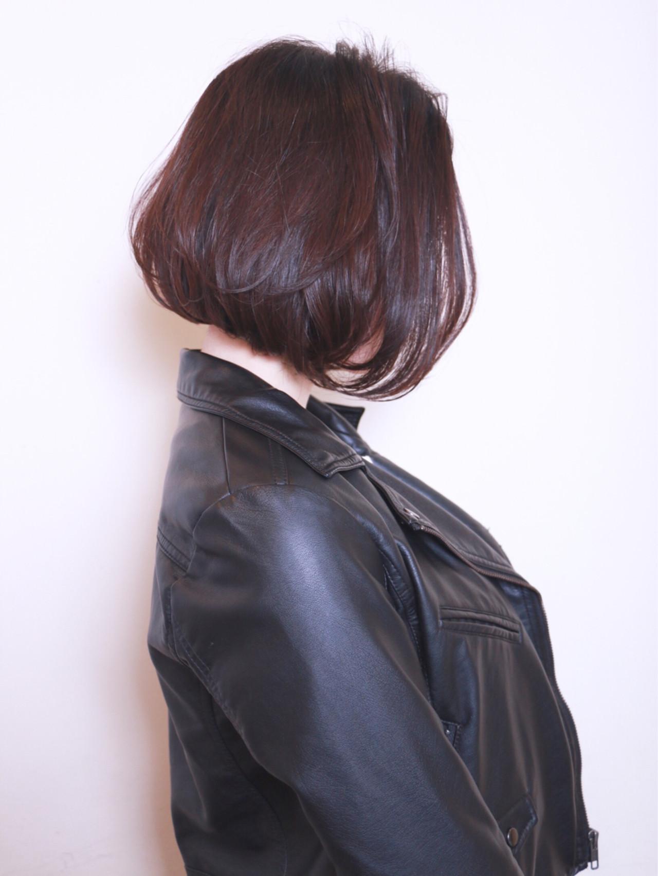 色っぽいニュアンスバングの前下がりボブ♪ 星野 将太/柏/ボブ | R-EVOLUT hair
