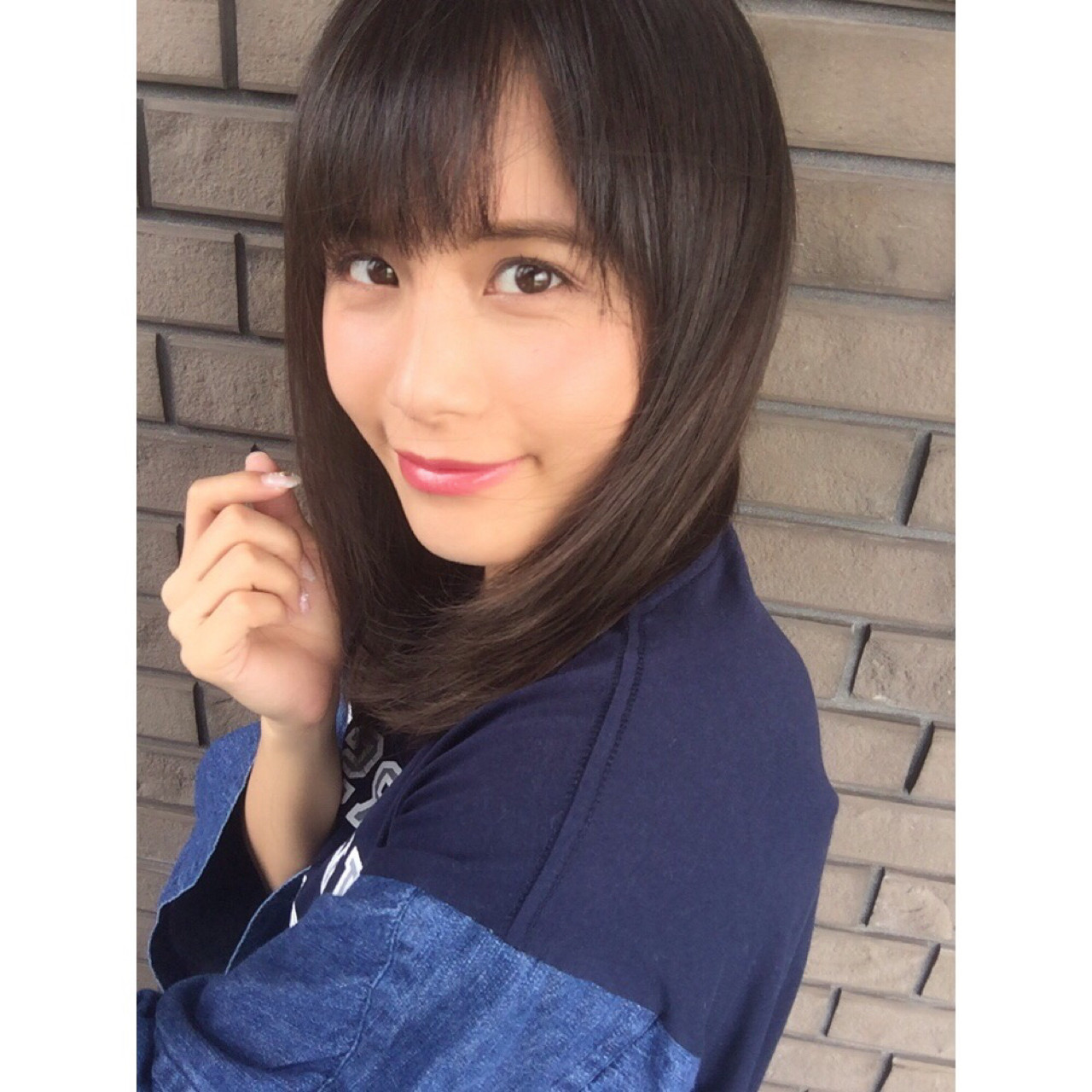 桐谷美玲さん風♪知的ミディアムストレート サン