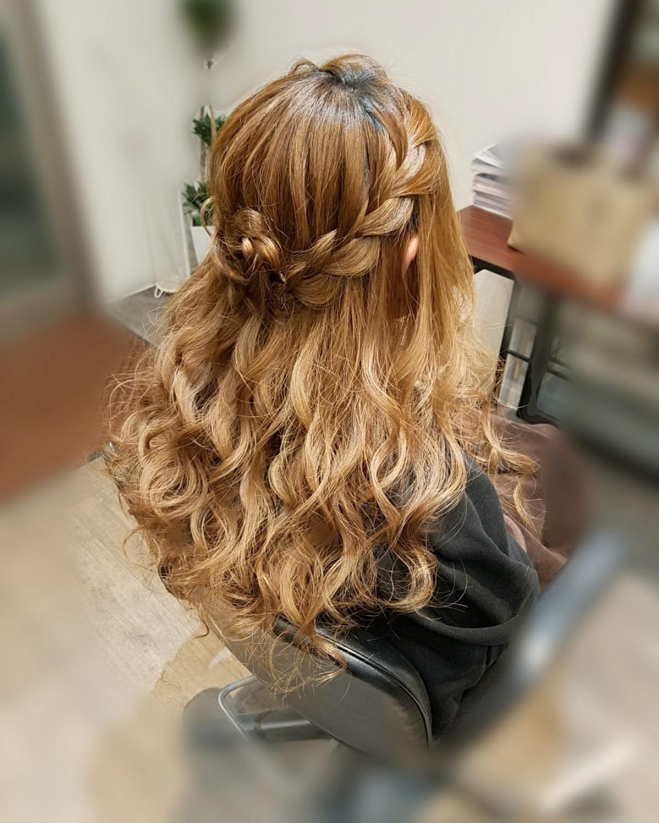 華やかなお花アレンジ×編み込み mai | HAIR SALON STELLA