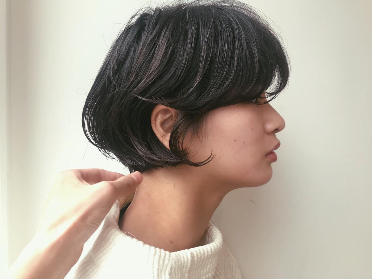 大人っぽさ抜群の黒髪ワンカールショート 仙頭郁弥 | loji+LIM