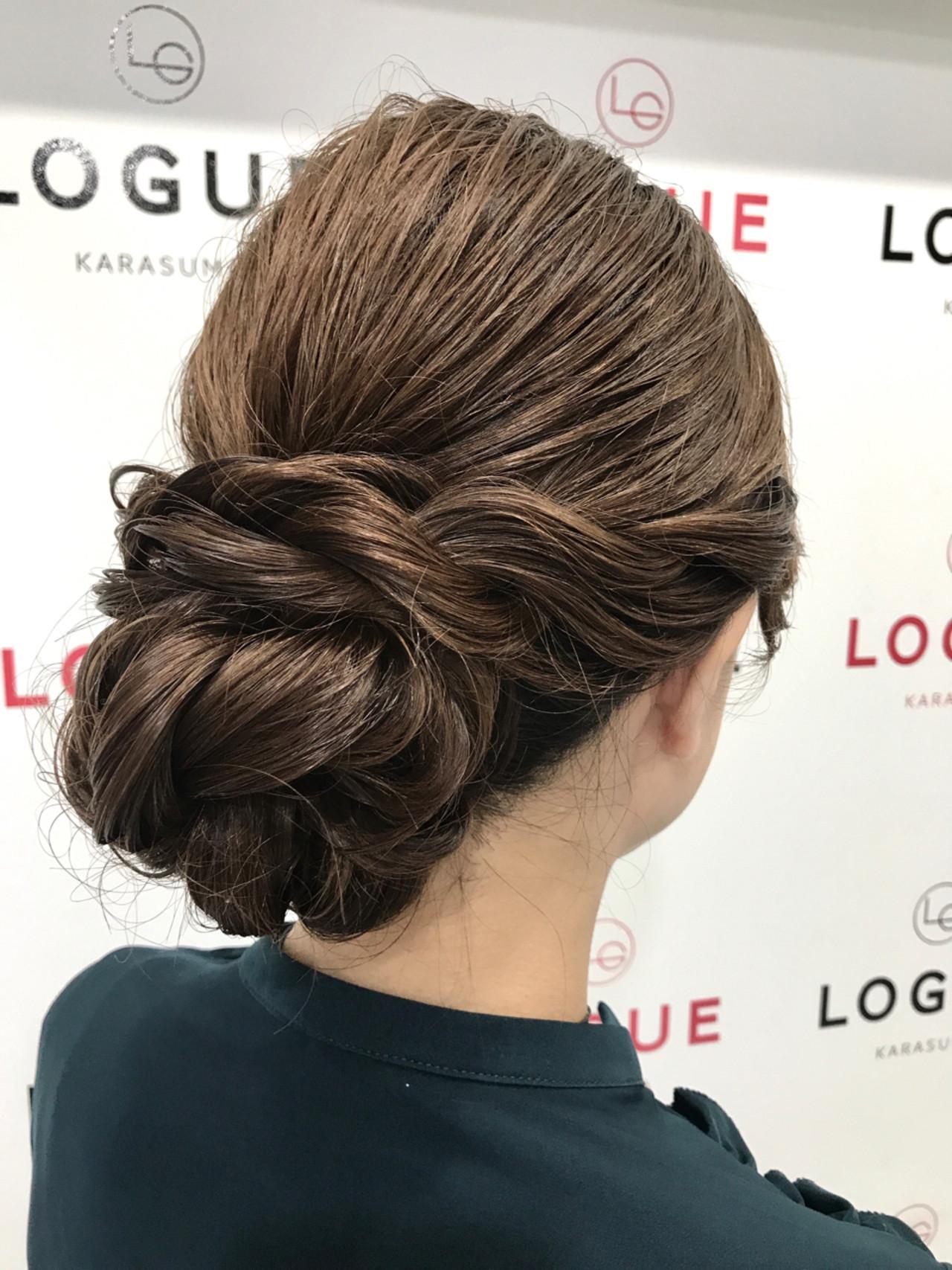 結婚式 大人女子 シニヨン ヘアアレンジ ヘアスタイルや髪型の写真・画像
